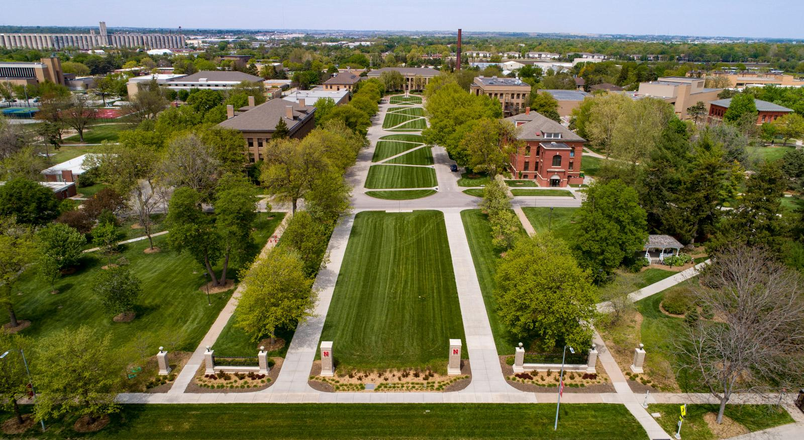 East Campus Mall Aerial Photo